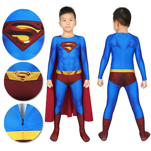 Christmas Gifts For Kids Superman Cosplay Costume Crisis on Infinite Earths Suit With Cloak