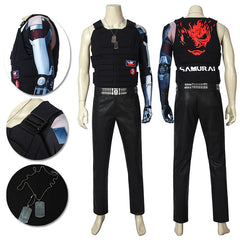 Cyberpunk 2077 Cosplay Costumes Johnny Silverhand Cosplay Suit