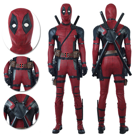 Deadpool Cosplay Costumes Movie Level Leather Suits