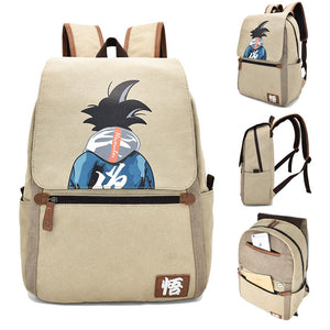 Dragon Ball Backpack Goku Symbol Printed Animation Bag
