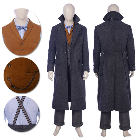 Fantastic Beasts 2 Cosplay Costumes Newt Scamander Movie Level Suits