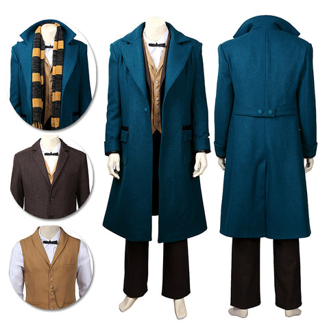 Fantastic Beasts Cosplay Costumes Newt Scamander Movie Level Costumes