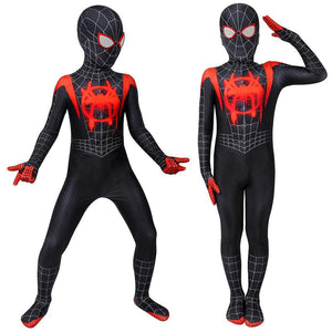 Gift For Boys Miles Morales Black Spider-man Cosplay Suit HQ Printed Costumes