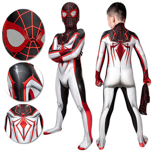 Gifts For Kids Spider-man Cosplay Suit Children Miles Morales TRACK Cosplay Bodysuit