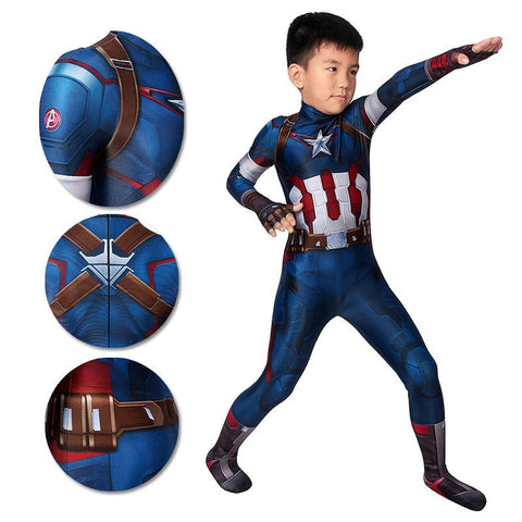 Gifts For Kids Captain America Cosplay Costumes Avengers2 Age of Ultron Cosplay Suit