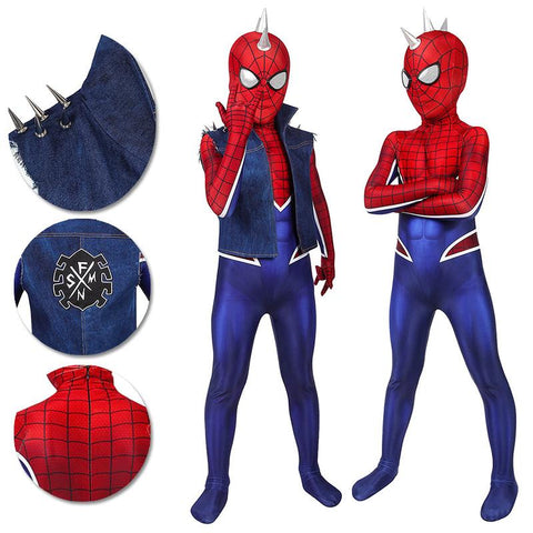 Gifts For Kids Punk Spider-Man Cosplay Costumes