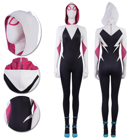 Gwen Stacy Cosplay Costumes Into The Spider Verse Spider Girl Gwen Suits