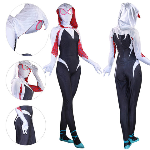 Gwen Stacy Spider Suit Into The Spider Verse Gwen Cosplay Bodysuit