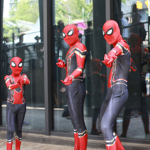 Halloween Iron Spider man Suits For Adults and Kids