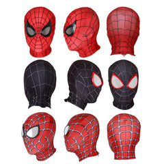 Halloween Spider-man Mask With Half Face Shell Multiple Kinds