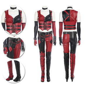 Harley Quinn Cosplay Costumes BatMan Arkham City High Quality Cosplay Suits