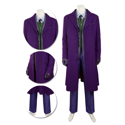 Joker Cosplay Costume Batman Dark Knight Rise Movie Level Suits