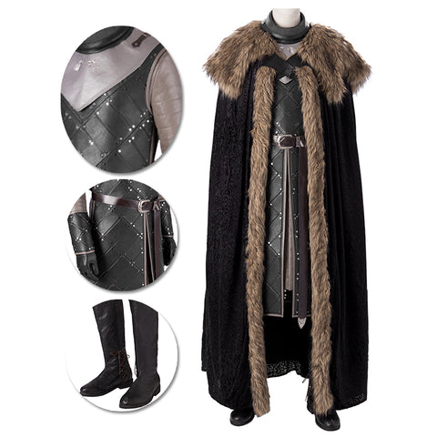 Jon Snow Cosplay Costumes Game of Thrones Season 8 Cosplay Suit Movie Level