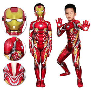 Kids Iron-man Spandex Cosplay Suit Ideas For Children Halloween Cosplay