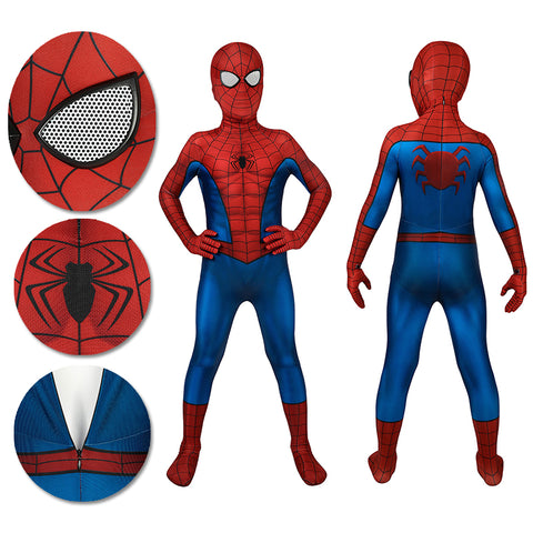 Kids Spider-man Cosplay Suit PS4 Spider-man Spandex BodySuit