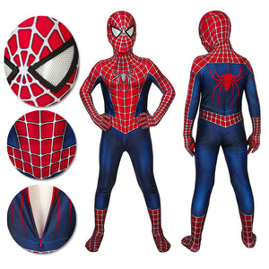 Kids Spider-man Cosplay Suit Spandex Tobey Maguire Suit Printed Edition