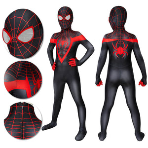 Kids Spider-man Miles Morales PS5 Cosplay Suit Children Halloween Cosplay Jumpsuit
