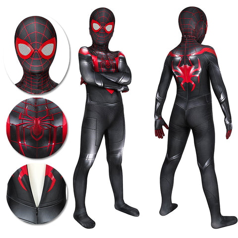 Kids Spider-man Miles Morales PS5 Cosplay Suit