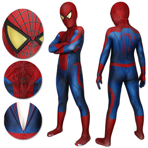 Kids Spider-man Suit Halloween Children Cosplay The Amazing Spider-Man Edition