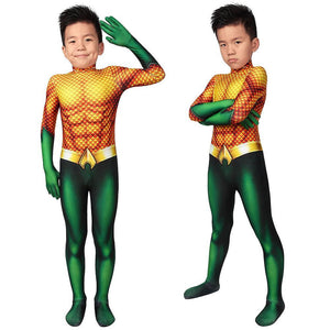 Christmas Gifts For Kids Aquaman Cosplay Suit Children Aquaman Cosplay Bodysuit