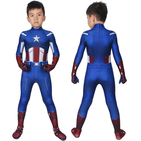 Christmas Gifts For Kids Captain America Classic Cosplay Costume Children Superhero Suits