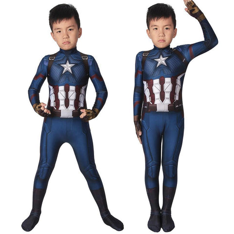 Christmas Gifts For Kids Captain America Endgame Cosplay Costume Children Spandex Cosplay Suit