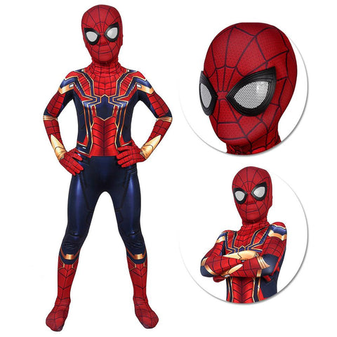 Kids Iron Spider-Man Suit Avengers SuperHero Cosplay Costumes For Children