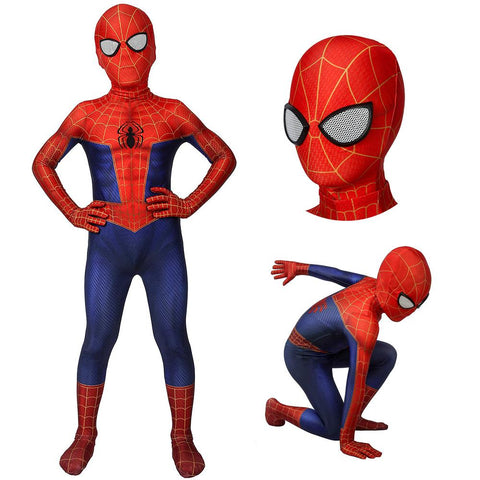 Kids Spider-man Suit Into The Spider-Verse Peter Parker Cosplay Costumes For Children