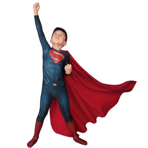 Christmas Gifts For Kids Superman Cosplay Costume Children Superman Suit With Cloak