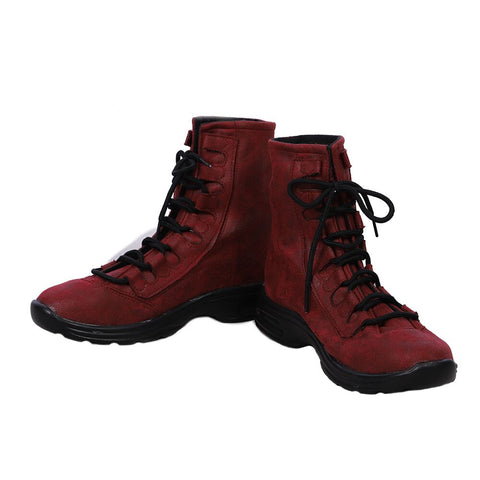 Lady Deadpool Cosplay Boots Female Deadpool Leather Shoes