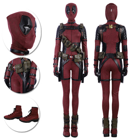 Lady Deadpool Cosplay Costumes Female Deadpool Leather Suits