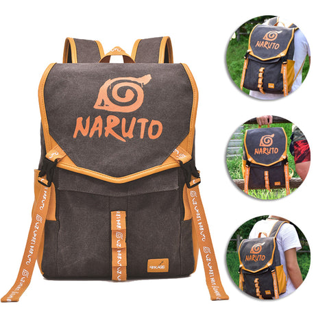 Naruto Backpack Leaf Symbol Printed Animation Creative Bag