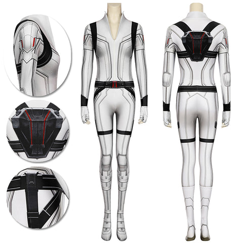 Natasha Romanoff Spandex White Cosplay Costumes Black Widow 3D Printed Cosplay Suit