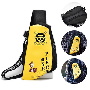 One Piece Luffy Fanny Pack Straw Hat Creative Crossbody Bag