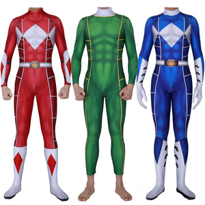 Kids/Adults Power Rangers Suit 3D Printed Spandex Cosplay BodySuit