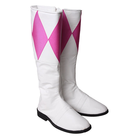 Pterosaur Pink Ranger Cosplay Shoes Mighty Morphin Power Rangers Boots