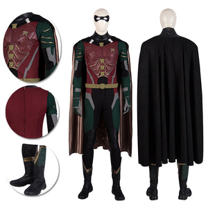Robin Cosplay Costume Titans Dick Grayson Suit Moive Level