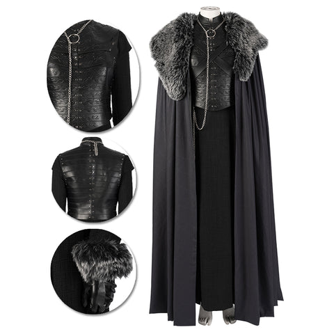 Sansa Stark Cosplay Costumes Game Of Thrones Season 8 Cosplay Suits Movie Level