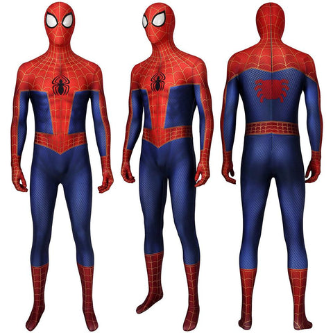Spider-Man Into the Spider-Verse Peter Parker Cosplay Costume 3D Printed Zentai