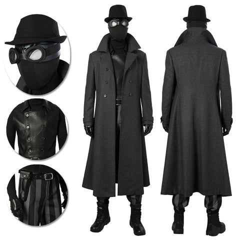 Spider-Man Noir Cosplay Costumes Spider-Man Black Long Coat
