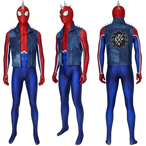 Spider-Punk Cosplay Suit Punk Spider-man Cosplay Costume Ver.2