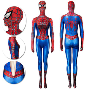 Spider-man Cosplay Suit For Ladies Classic Tobey Maguire Spandex Costume