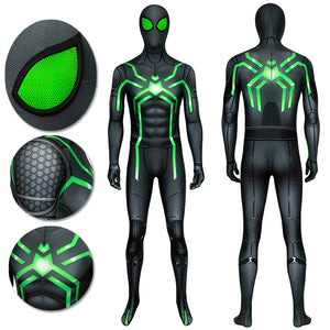 Spider-man Spandex Suit PS4 Stealth Big Time Green Bodysuit