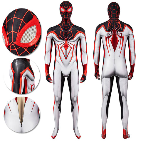 Spider-man Tracksuit Spiderman Miles Morales White Cosplay Suit