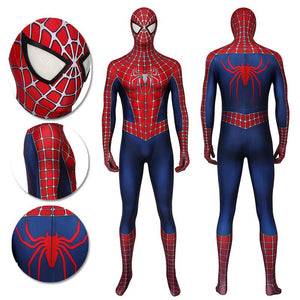 Spider-man Cosplay Costume The Classic Spider man 2 Peter Parker Red Suit