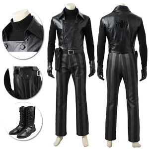 SpiderMan Noir Cosplay Costume Spider-man Into The Spider Verse Suit