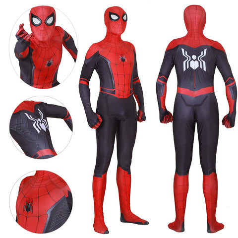Spider man Spandex Suit Far From Home Black and Red Cosplay Bodysuit