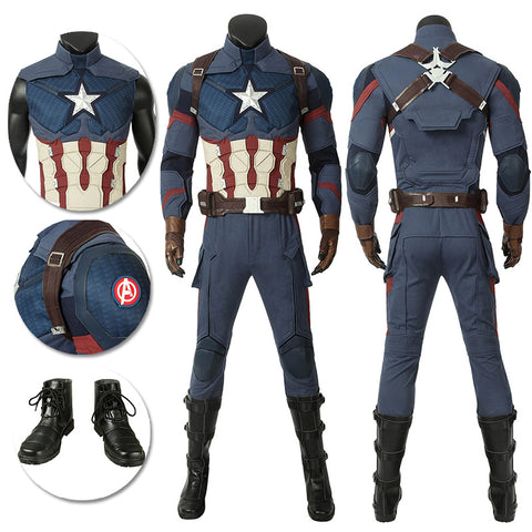 Steven Rogers Cosplay Costumes Captain America Endgame Version Cosplay Suit