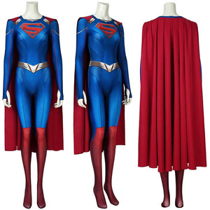 Supergirl Season 5 Cosplay Costume Kara Zor-El 3D Printed Bodysuit With Cloak