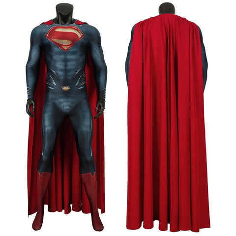 Superman Clark Kent Cosplay Costume Man of Steel Printed Suit With Cloak